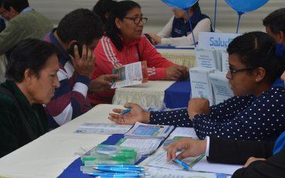 FERIA DE SALUD EN HOSPITAL AUGUSTO B. LEGUIA OFRECIÓ INFORMACIÓN DE SERVICIOS A BENEFICIARIOS