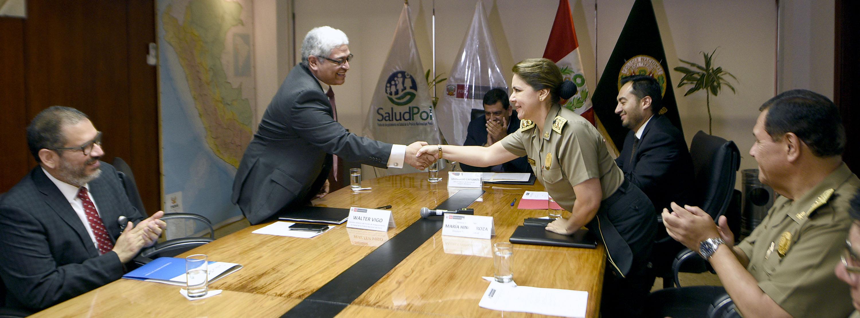 SALUDPOL Y DIRSAPOL FIRMAN CONVENIO PARA FORTALECER EL FINANCIAMIENTO DE LAS PRESTACIONES DE SALUD