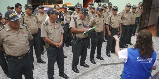 EFECTIVOS DE LA POLICÍA NACIONAL DE CARABAYLLO RECIBIERON CHARLAS INFORMATIVAS SOBRE SERVICIOS DE SALUDPOL