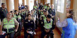 SALUDPOL BRINDÓ INFORMACIÓN A EFECTIVOS POLICIALES DE COMISARÍA MARISCAL CÁCERES EN SAN JUAN DE LURIGANCHO