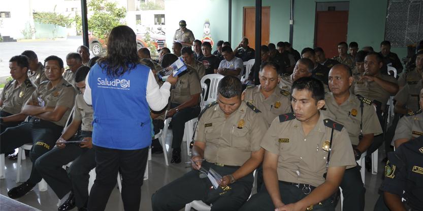 SALUDPOL INFORMÓ A EFECTIVOS POLICIALES DE LA COMISARÍA DE SAN MARTÍN DE PORRES SOBRE COBERTURAS DE PRESTACIONES DE SALUD