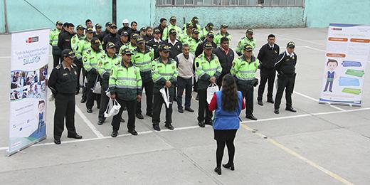 SaludPol visita comisarías a nivel nacional